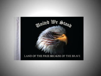 United We Stand Eagle Motorcycle Flag