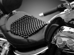 Motorcycle beaded seat cover
