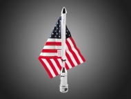 Folding Stainless Steel Motorcycle Flag Pole with Flag