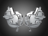 Chrome Front Rotor Covers for Goldwing GL1500