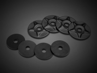 Black Satin Star Trunk Rack Washers