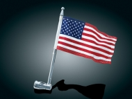 Folding Motorcycle Flag Pole with USA Flag