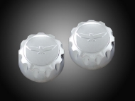 Goldwing GL1800 F6B Chrome Radio Knobs with Raised Eagle