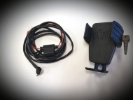 Cybercharger Motorcycle Driver Phone Holder with Wireless Charger