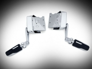 Chrome Omni Cruise Mounts with Pegs for Goldwing GL1833
