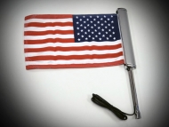 Goldstrike LED Lighted Flag Pole with American Flag